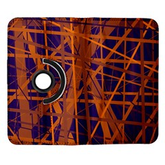 Blue and orange pattern Samsung Galaxy Note II Flip 360 Case