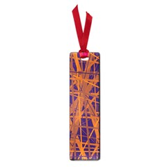 Blue and orange pattern Small Book Marks