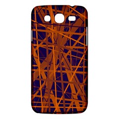 Blue and orange pattern Samsung Galaxy Mega 5.8 I9152 Hardshell Case