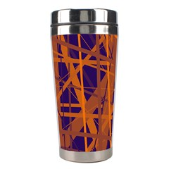 Blue and orange pattern Stainless Steel Travel Tumblers
