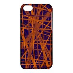 Blue and orange pattern Apple iPhone 5C Hardshell Case