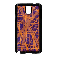 Blue and orange pattern Samsung Galaxy Note 3 Neo Hardshell Case (Black)