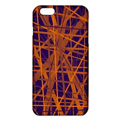 Blue and orange pattern iPhone 6 Plus/6S Plus TPU Case