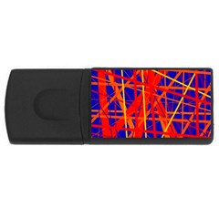 Orange and blue pattern USB Flash Drive Rectangular (2 GB)