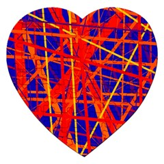 Orange and blue pattern Jigsaw Puzzle (Heart)