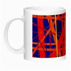 Orange and blue pattern Night Luminous Mugs