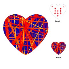 Orange and blue pattern Playing Cards (Heart)