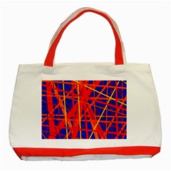 Orange and blue pattern Classic Tote Bag (Red)