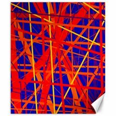 Orange and blue pattern Canvas 20  x 24