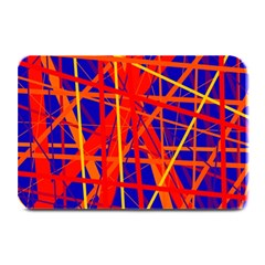 Orange and blue pattern Plate Mats