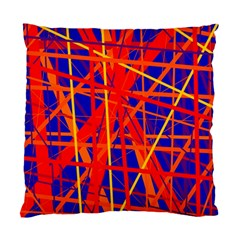 Orange and blue pattern Standard Cushion Case (Two Sides)