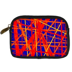 Orange and blue pattern Digital Camera Cases