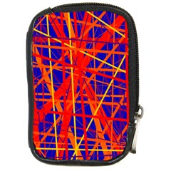 Orange and blue pattern Compact Camera Cases