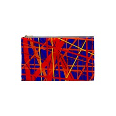Orange and blue pattern Cosmetic Bag (Small)