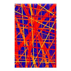 Orange and blue pattern Shower Curtain 48  x 72  (Small)