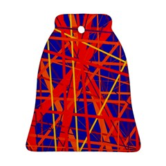 Orange and blue pattern Ornament (Bell)