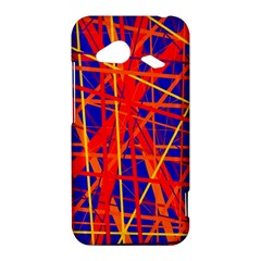Orange and blue pattern HTC Droid Incredible 4G LTE Hardshell Case
