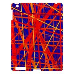 Orange and blue pattern Apple iPad 3/4 Hardshell Case