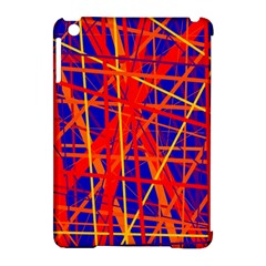 Orange and blue pattern Apple iPad Mini Hardshell Case (Compatible with Smart Cover)