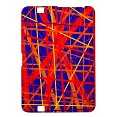 Orange and blue pattern Kindle Fire HD 8.9