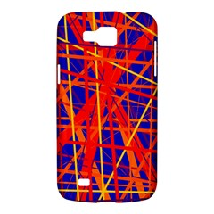 Orange and blue pattern Samsung Galaxy Premier I9260 Hardshell Case