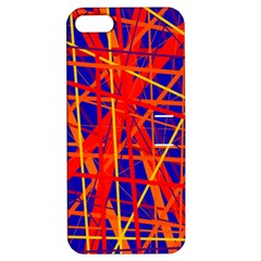 Orange and blue pattern Apple iPhone 5 Hardshell Case with Stand