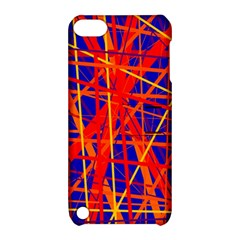 Orange and blue pattern Apple iPod Touch 5 Hardshell Case with Stand