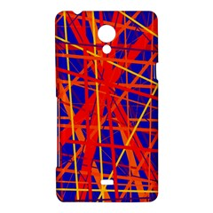 Orange and blue pattern Sony Xperia T