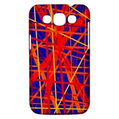 Orange and blue pattern Samsung Galaxy Win I8550 Hardshell Case