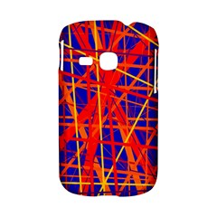 Orange and blue pattern Samsung Galaxy S6310 Hardshell Case