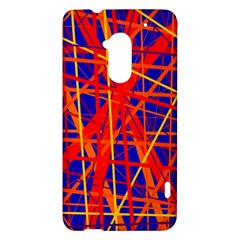 Orange and blue pattern HTC One Max (T6) Hardshell Case