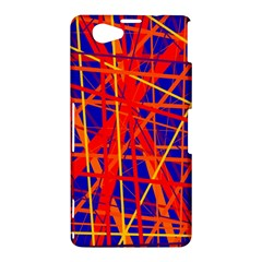 Orange and blue pattern Sony Xperia Z1 Compact