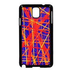 Orange and blue pattern Samsung Galaxy Note 3 Neo Hardshell Case (Black)