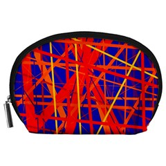 Orange and blue pattern Accessory Pouches (Large)