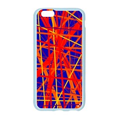 Orange and blue pattern Apple Seamless iPhone 6/6S Case (Color)