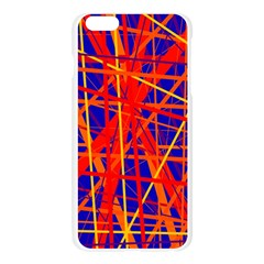 Orange and blue pattern Apple Seamless iPhone 6 Plus/6S Plus Case (Transparent)