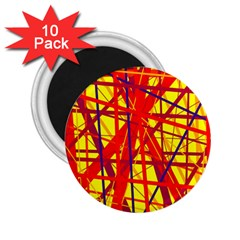 Yellow and orange pattern 2.25  Magnets (10 pack)
