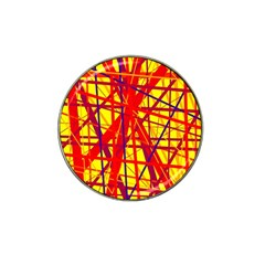 Yellow and orange pattern Hat Clip Ball Marker (10 pack)