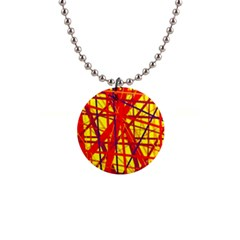 Yellow and orange pattern Button Necklaces