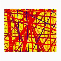 Yellow and orange pattern Small Glasses Cloth (2-Side)