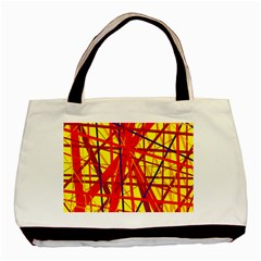 Yellow and orange pattern Basic Tote Bag (Two Sides)