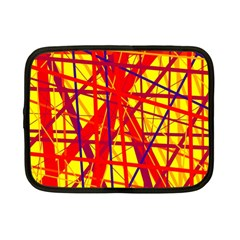 Yellow and orange pattern Netbook Case (Small)
