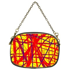 Yellow and orange pattern Chain Purses (Two Sides)
