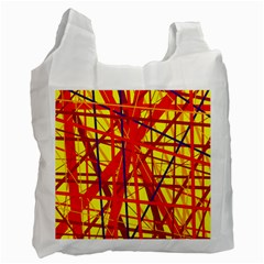 Yellow and orange pattern Recycle Bag (Two Side)