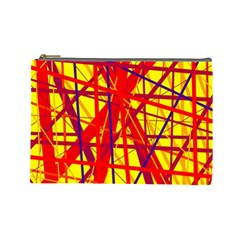 Yellow and orange pattern Cosmetic Bag (Large)