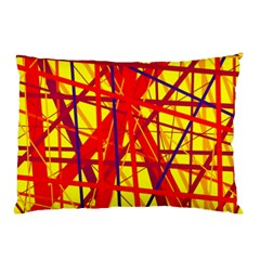 Yellow And Orange Pattern Pillow Case (two Sides)