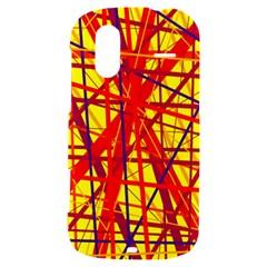 Yellow and orange pattern HTC Amaze 4G Hardshell Case