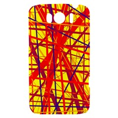 Yellow and orange pattern HTC Sensation XL Hardshell Case