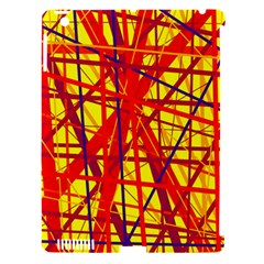 Yellow and orange pattern Apple iPad 3/4 Hardshell Case (Compatible with Smart Cover)