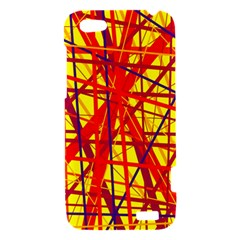 Yellow and orange pattern HTC One V Hardshell Case